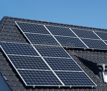 solar, panels, on, a, roof - 28215494