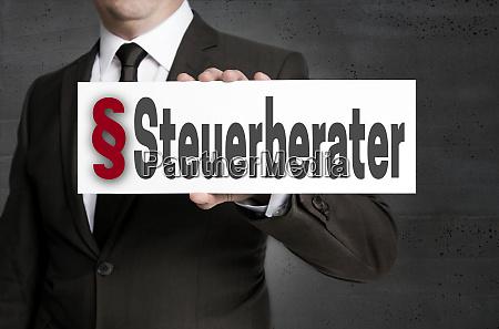 steuerberater, (in, german, tax, adviser), plate - 28215801