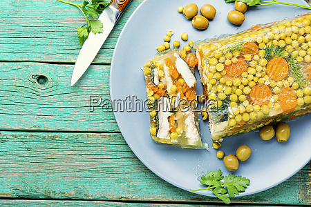 tasty, aspic, fish. - 28215367