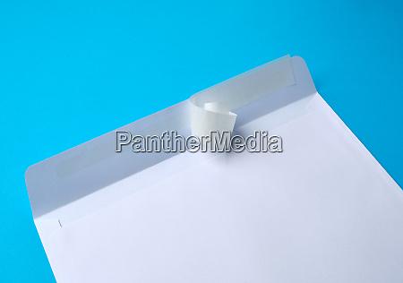 white, rectangular, blank, paper, envelope, on - 28215626