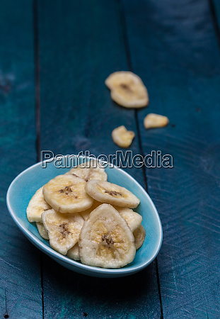 dried, banana, in, a, bowl, on - 28216072