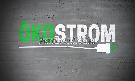 oekostrom, (in, german, green, electricity), on - 28216009
