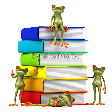 3d, illustration, of, green, frogs, next - 28217446