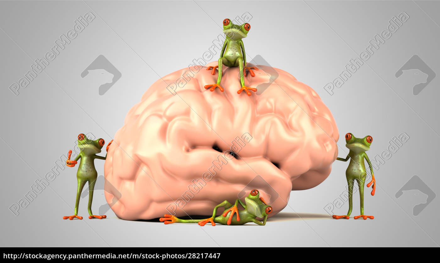 3d, illustration, of, green, frogs, next - 28217447