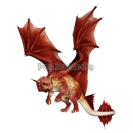 3d, rendering, fairy, tale, dragon, on - 28217978