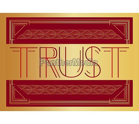 art, deco, trust, text. - 28217021
