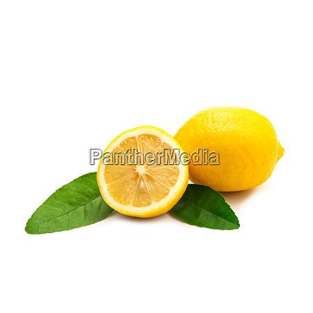 fresh, lemon, isolated, on, white, background. - 28217307