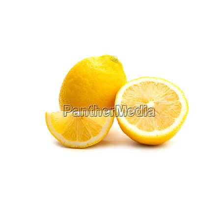 fresh, lemon, isolated, on, white, background. - 28217308