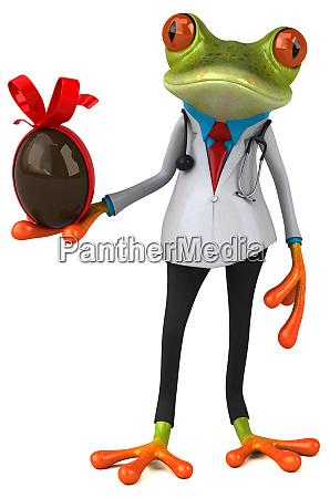 frog, doctor, -, 3d, illustration - 28217535