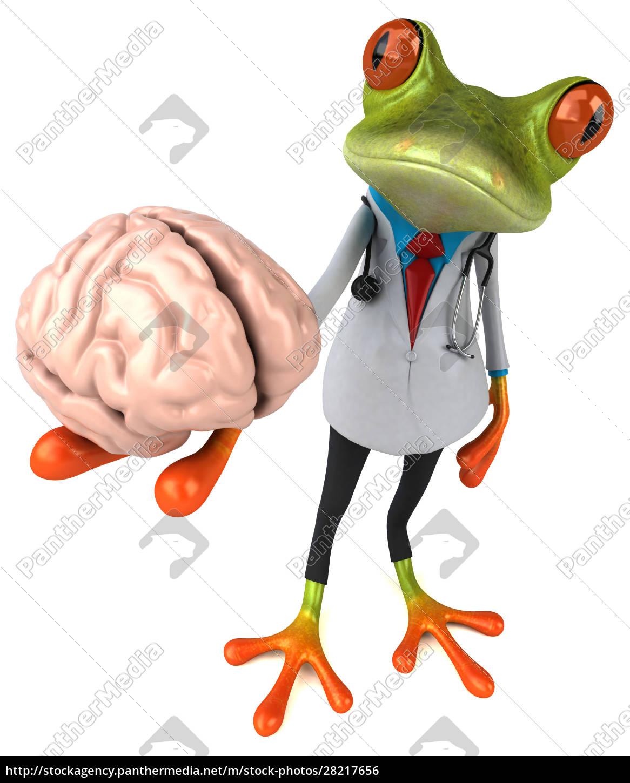 frog, doctor, -, 3d, illustration - 28217656