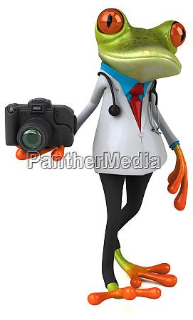 frog, doctor, -, 3d, illustration - 28217657