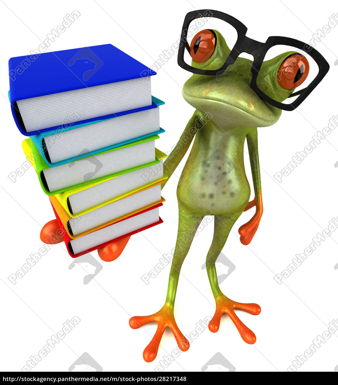 fun, frog, -, 3d, illustration - 28217348