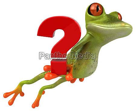 fun, frog, -, 3d, illustration - 28217376