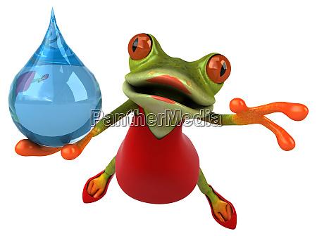 fun, frog, -, 3d, illustration - 28217379