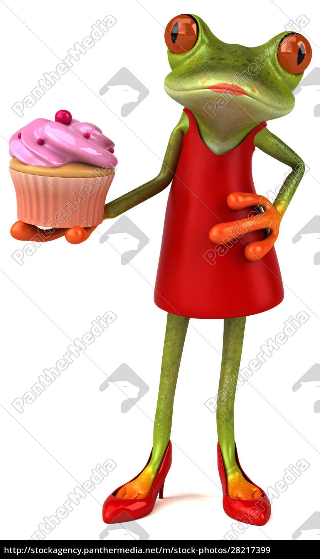 fun, frog, -, 3d, illustration - 28217399