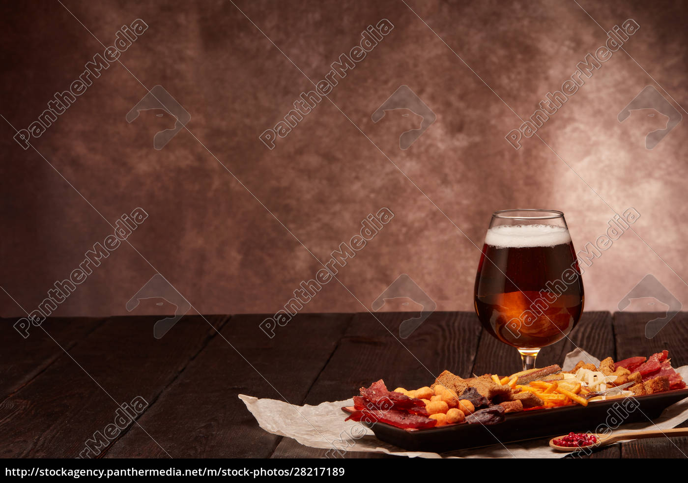 glass, with, beer, and, snacks - 28217189