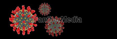 novel, coronavirus, spreading, on, black, background - 28217178