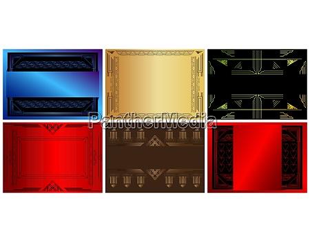 set, of, six, luxury, geometric, background - 28217018