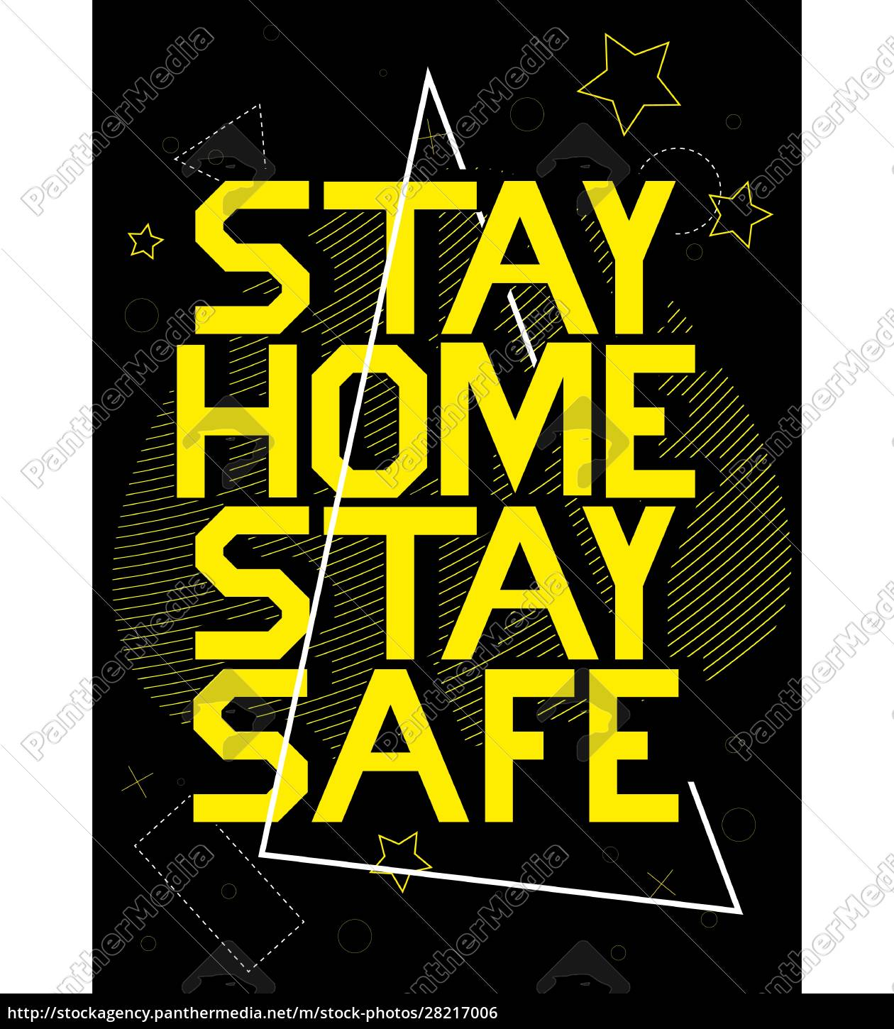 stay, home, stay, safe, banner, template - 28217006