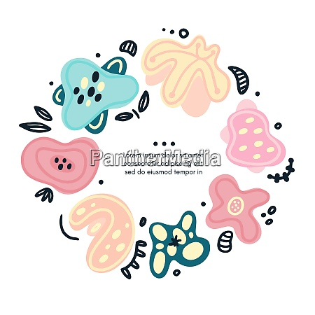 vector, circle, floral, frame, includes, hand - 28217430