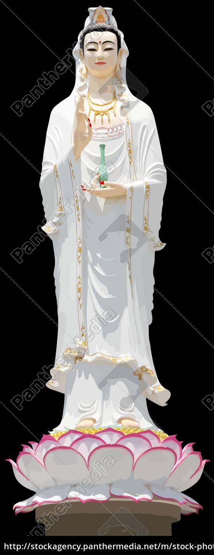 guanyin, mercy, goddess, faith, chinese, holy - 28218088