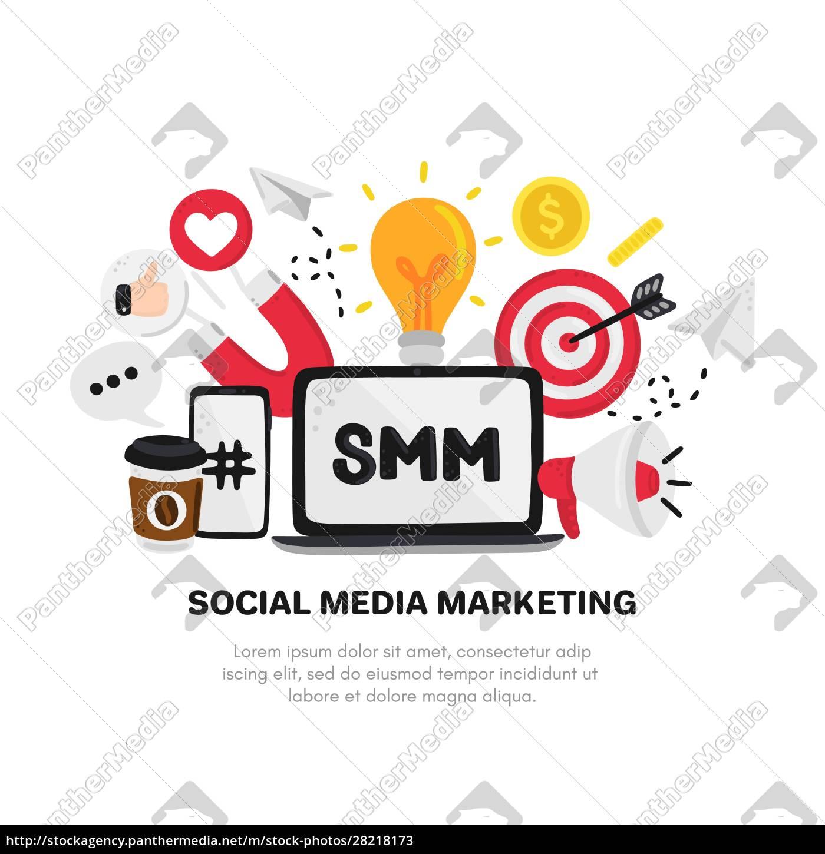 vector, smm, elements., social, media, marketing. - 28218173