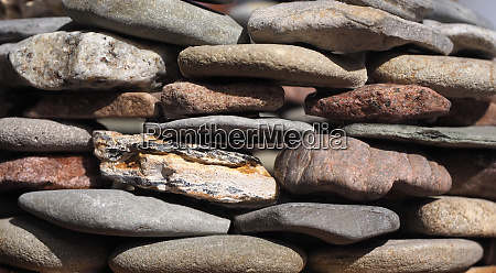 natural stones stacked