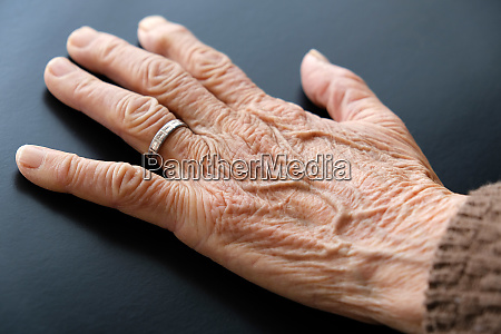 80 years old womans hand old