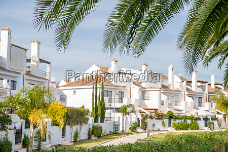 white villas for tourists are waiting