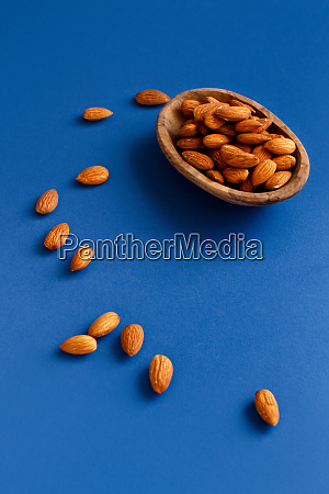 fresh almonds in a bowl on