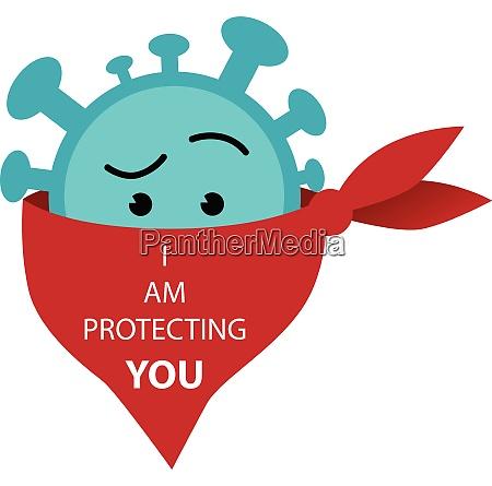 corona virus model icon protect