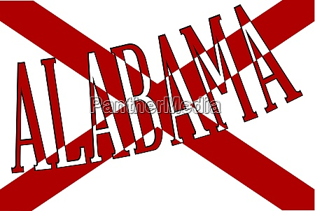 alabama sate flag with text