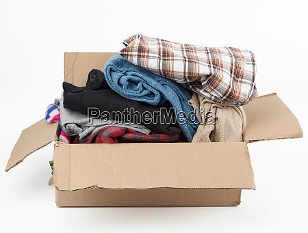 big, brown, cardboard, box, filled, with - 28223146