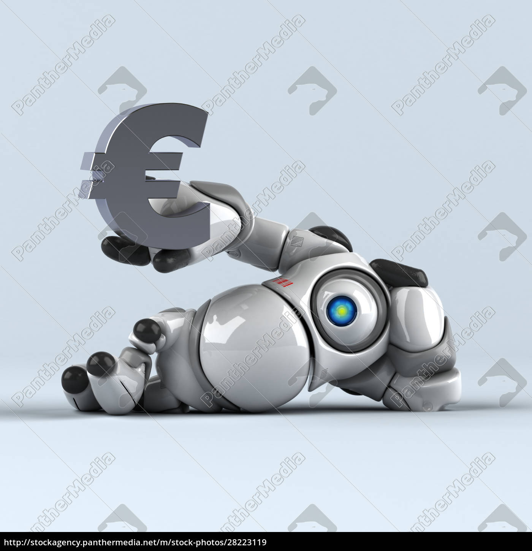 big, robot, -, 3d, illustration - 28223119