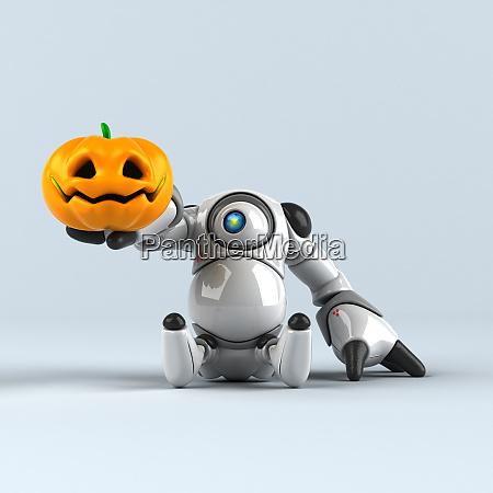 big, robot, -, 3d, illustration - 28223157