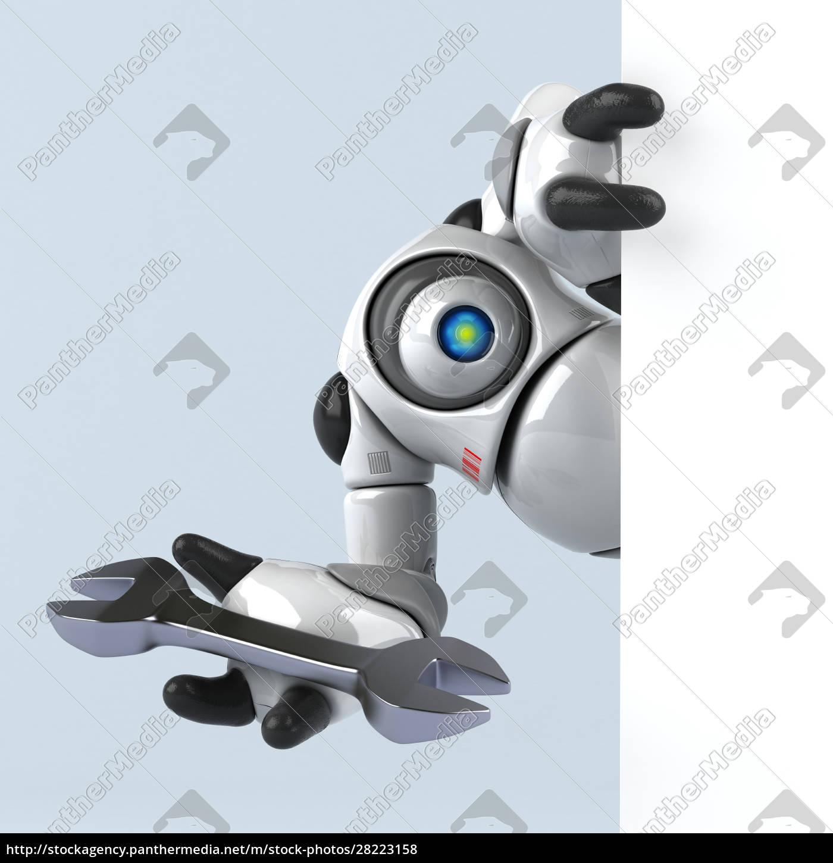 big, robot, -, 3d, illustration - 28223158
