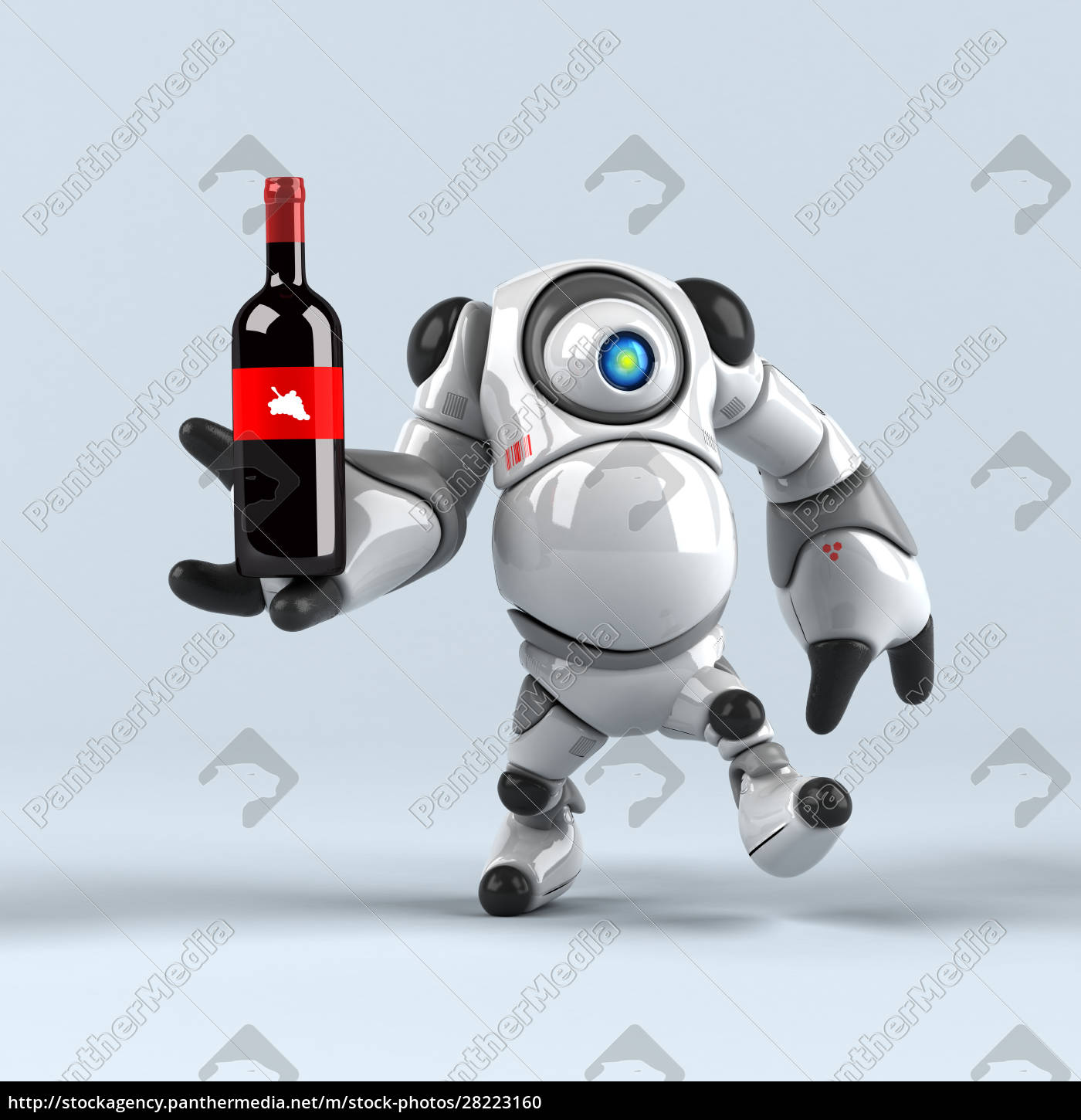big, robot, -, 3d, illustration - 28223160