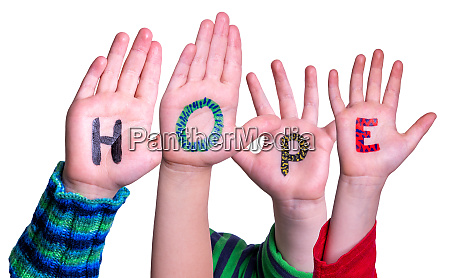 children, hands, building, word, hope, , isolated - 28223067