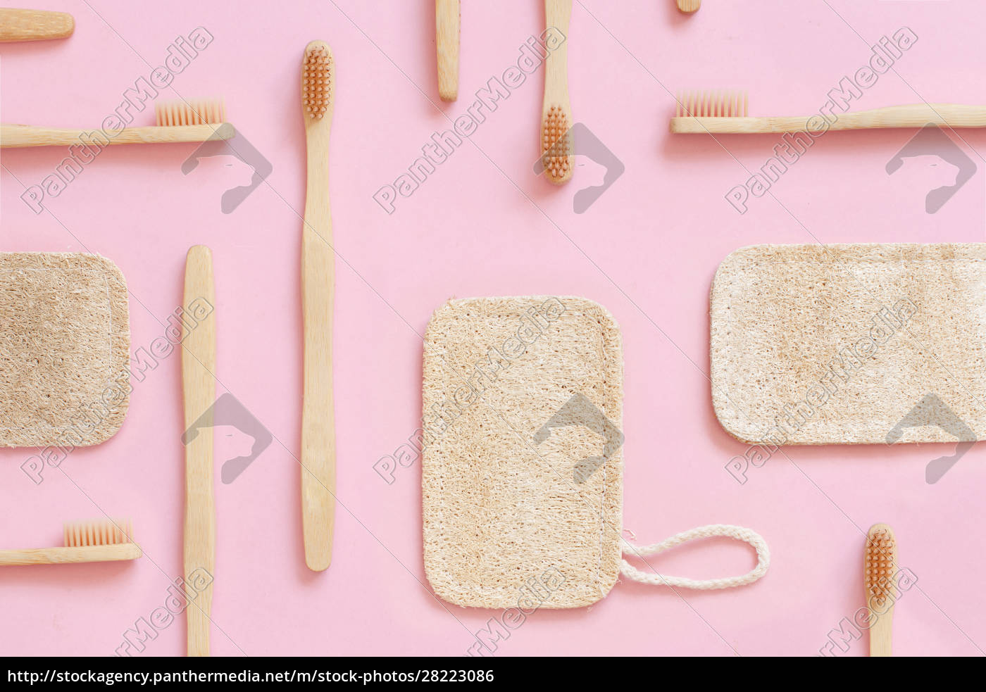eco, friendly, bamboo, toothbrushes, and, dish - 28223086