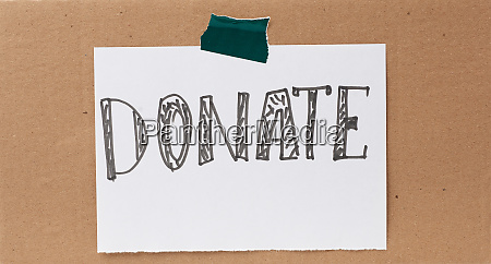 inscription, donate, on, a, white, sheet - 28223174