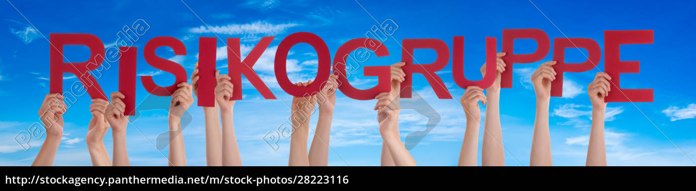 people, hands, holding, word, risikogruppe, means - 28223116
