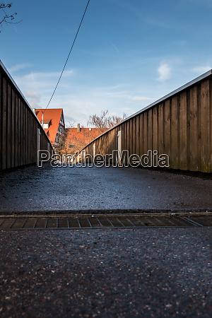 little pedestrian bridge across the river