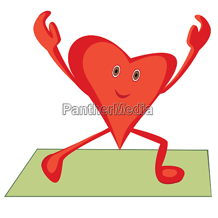 heart doing morning cardio exercises for