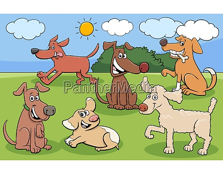 cartoon dogs and puppies funny characters