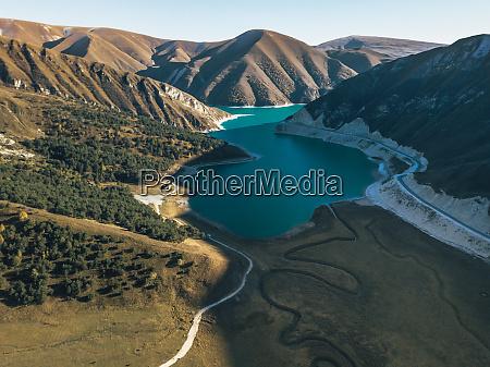 aerial view of kezenoy am lake