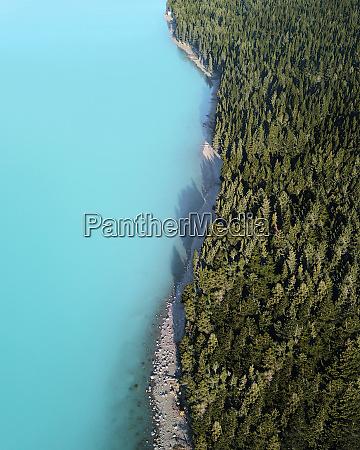 aerial view of lake pukaki canterbury