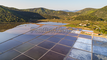 aerial view of ston saltworks in