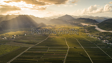 aerial view of jezero valley near