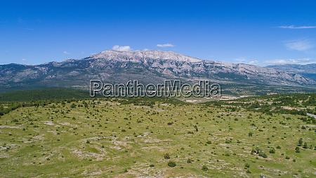 aerial view of dinara mountain near