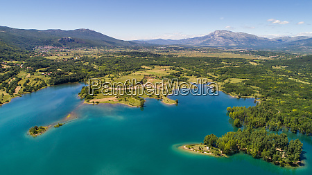 aerial view of landscape of peruca